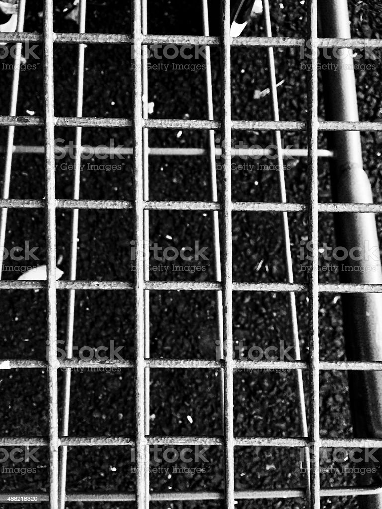 View of Steel Metal Grate on the Ground royalty-free stock photo
