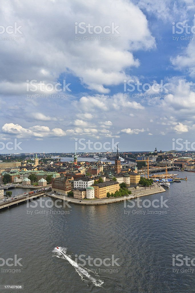 View of Stockholm, Sweden royalty-free stock photo