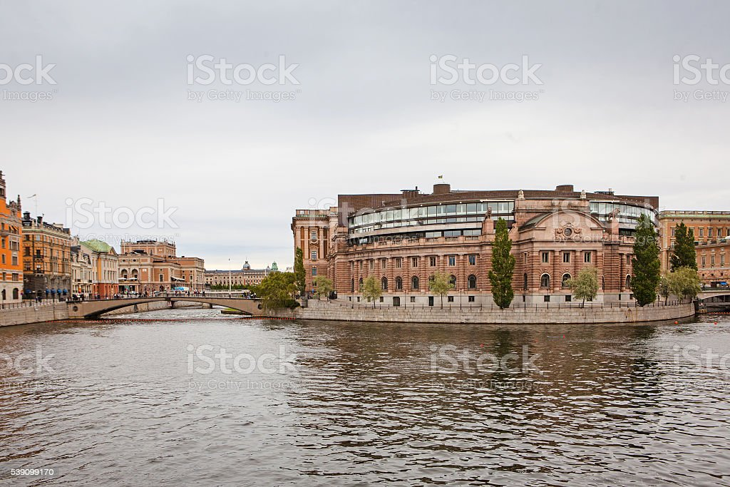 View of Stockholm's Royal Palace in Gamla Stan, Sweden stock photo