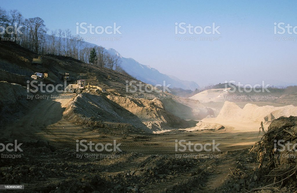 View of Stone-pit in Savoy royalty-free stock photo