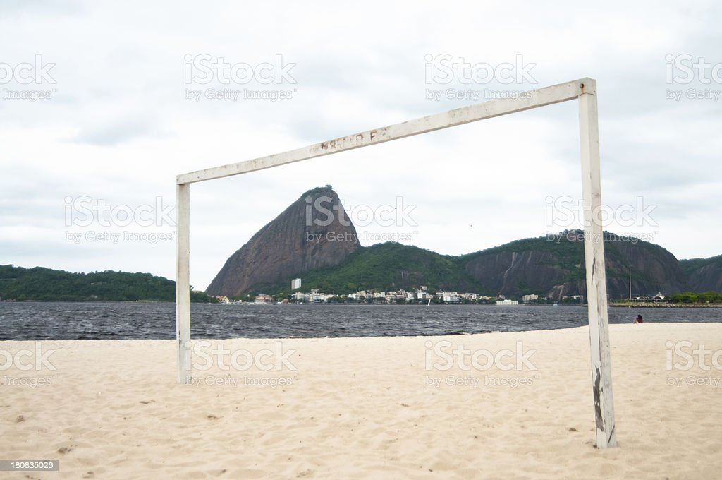 View of Sugar Loaf Mountain, Praia do Flamengo, Rio, Brazil. royalty-free stock photo