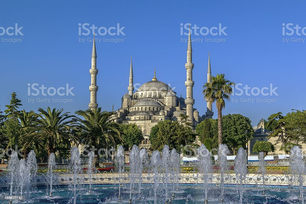view of Sultan Ahmed Mosque, Istanbul stock photo
