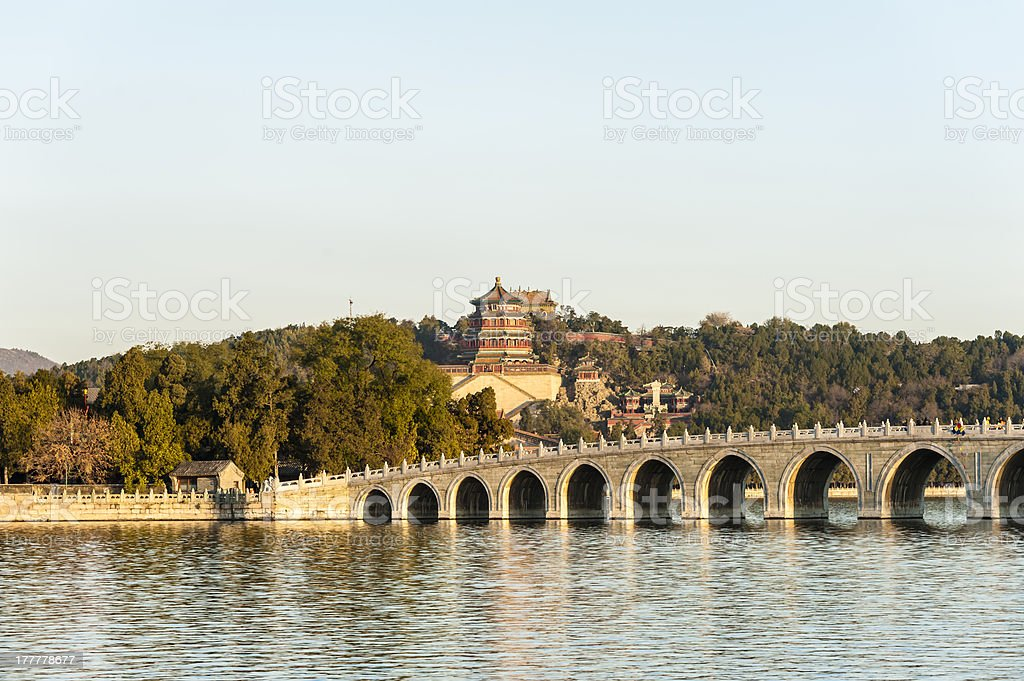 View of Summer Palace stock photo