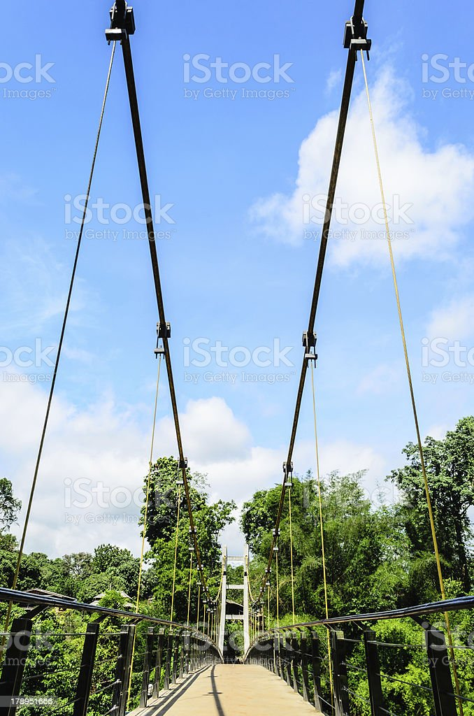 View of Suspension Bridge stock photo