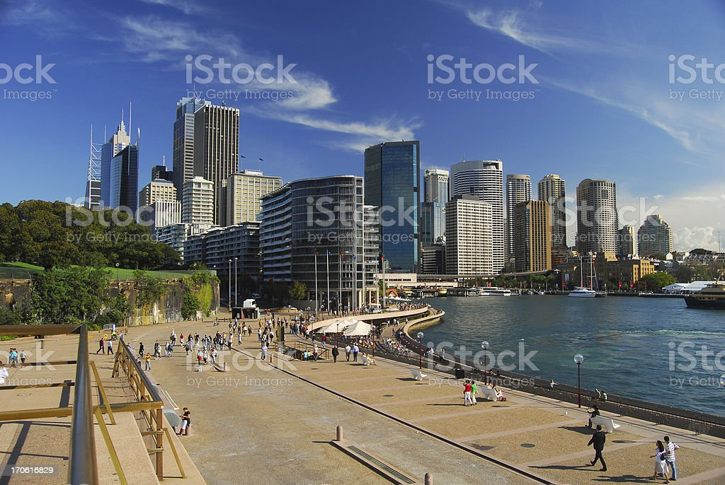 View of Sydney, Australia on a beautiful clear day stock photo