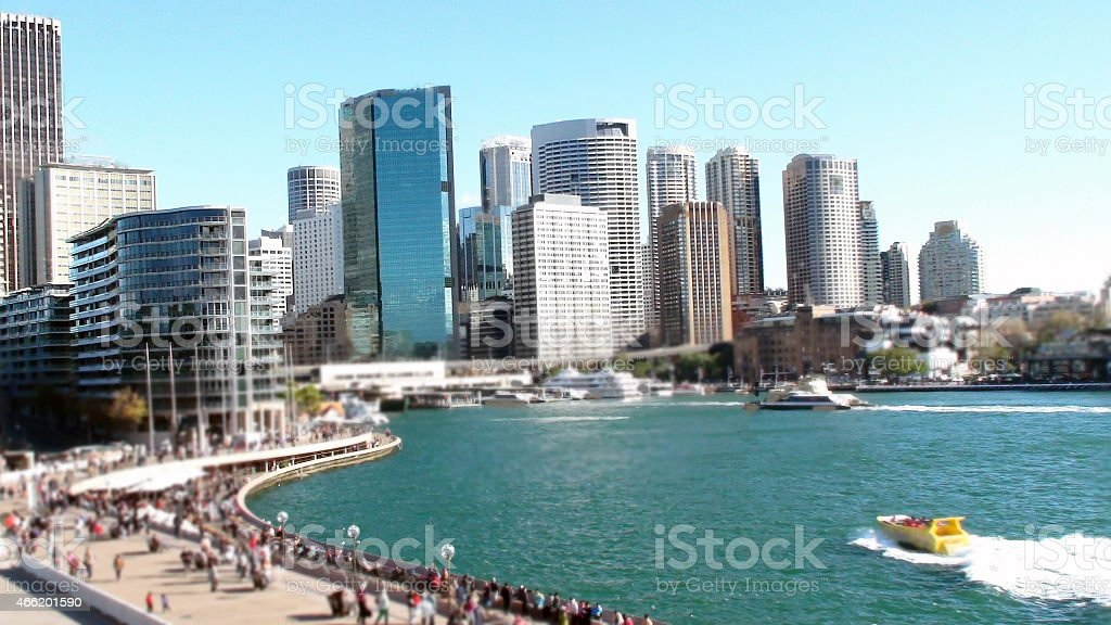 View of Sydney Circular Quay,Australia stock photo