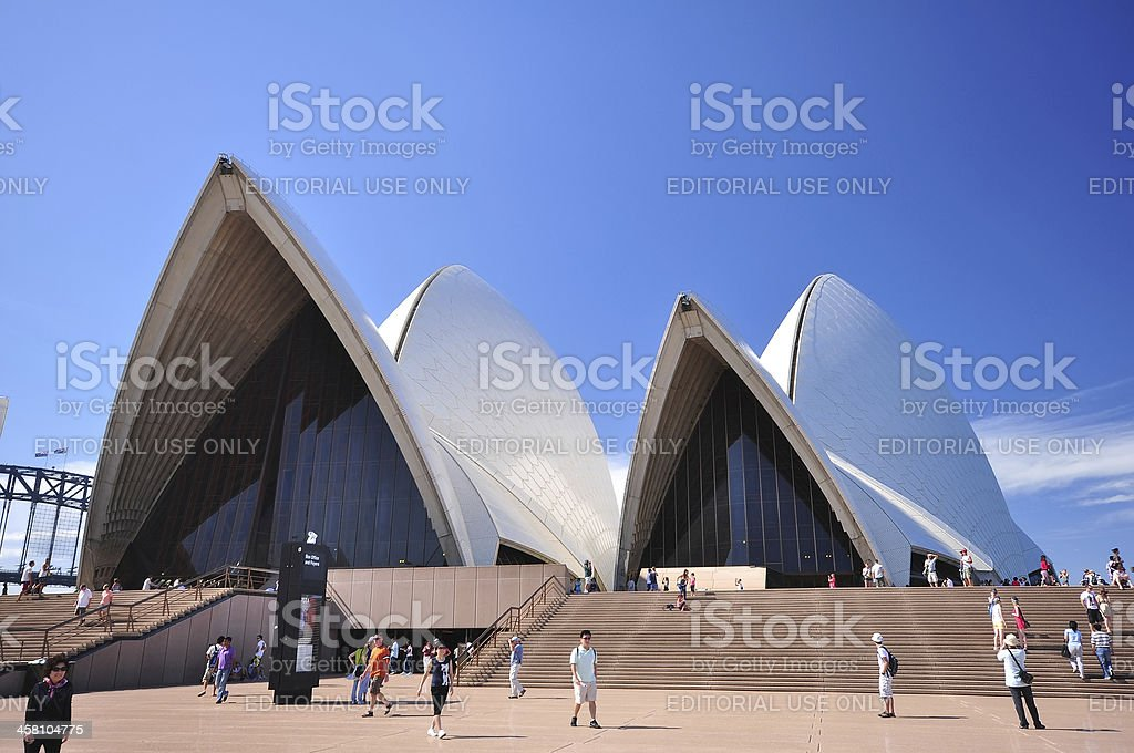 View of Sydney Opera House royalty-free stock photo