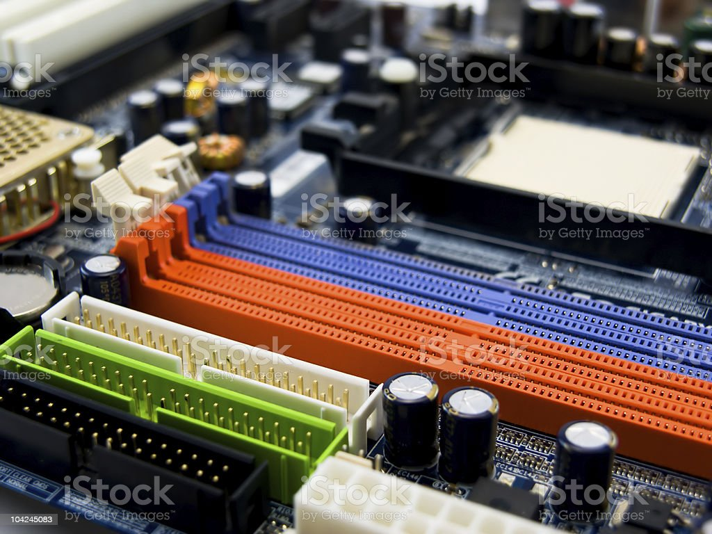 View of system board royalty-free stock photo