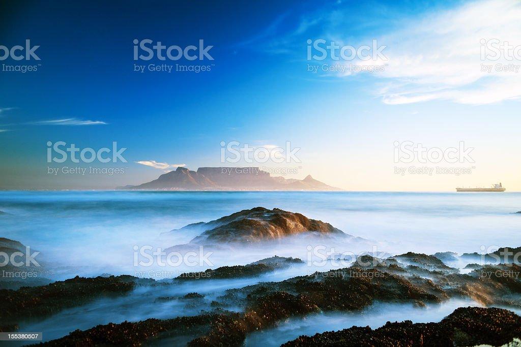 View of table Mountain stock photo