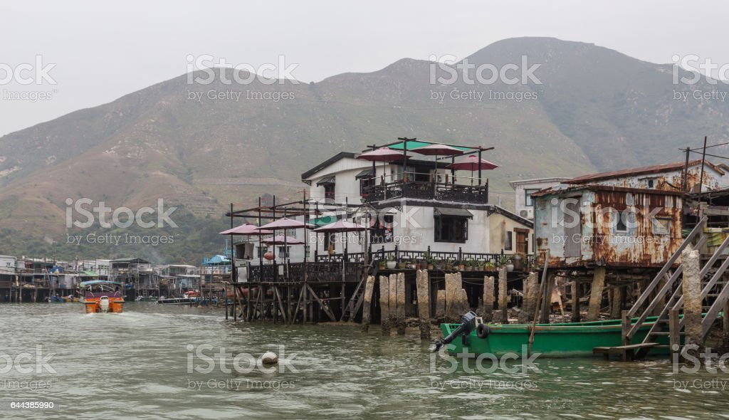 View of Tai O Lantau Island Hong Kong stock photo