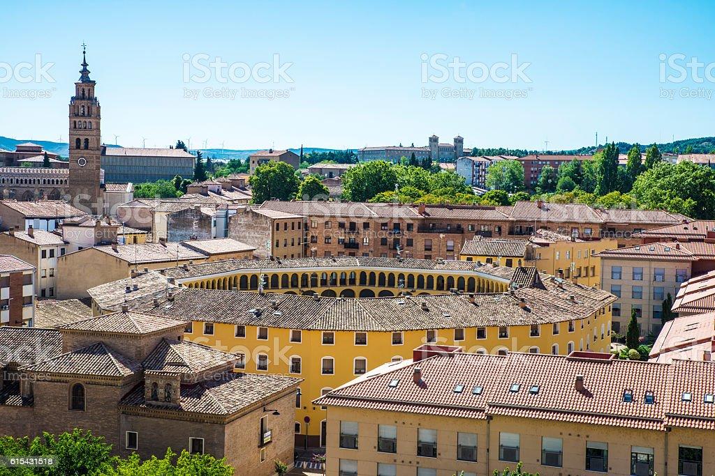 View of Tarazona de Aragon, Saragossa, Spain stock photo