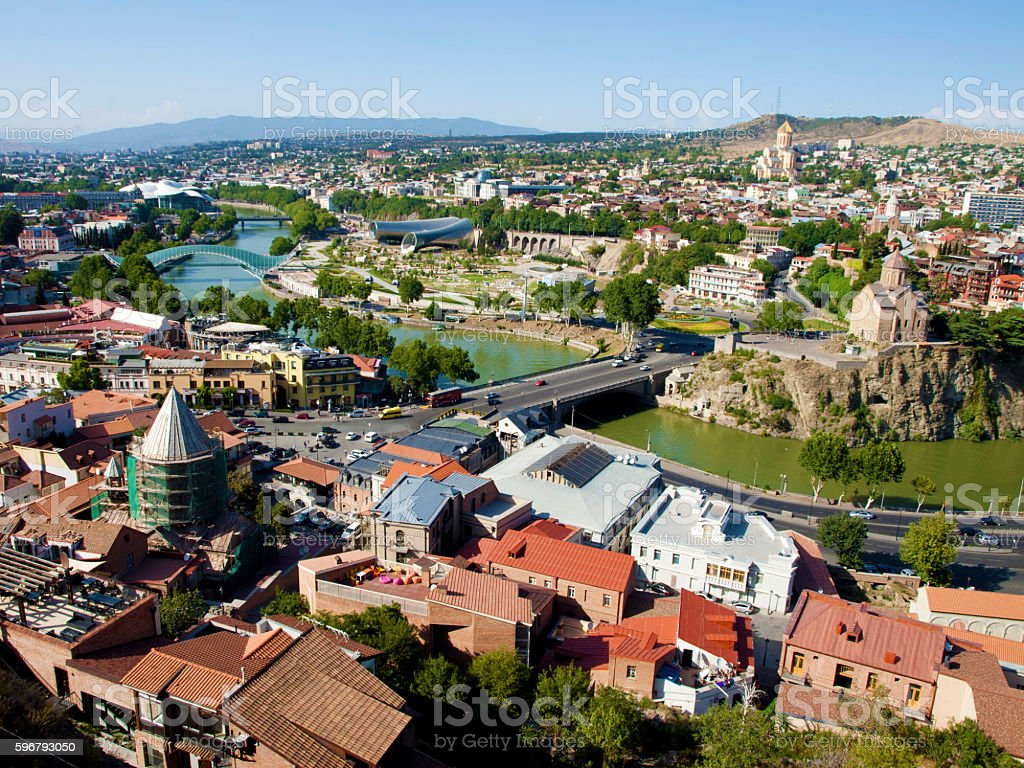 View of Tbilisi stock photo