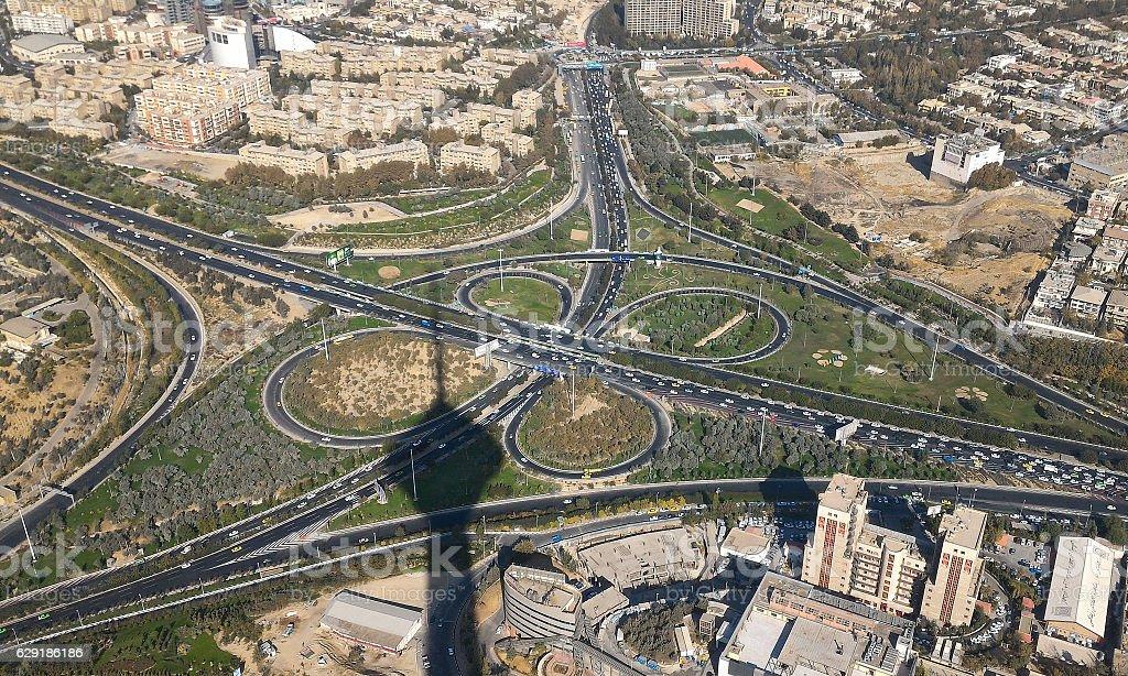 TEHRAN, IRAN View of Tehran from the Milad Tower - Iran stock photo