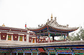 view of temple in Kumbum Monastery in Qinghai province, China