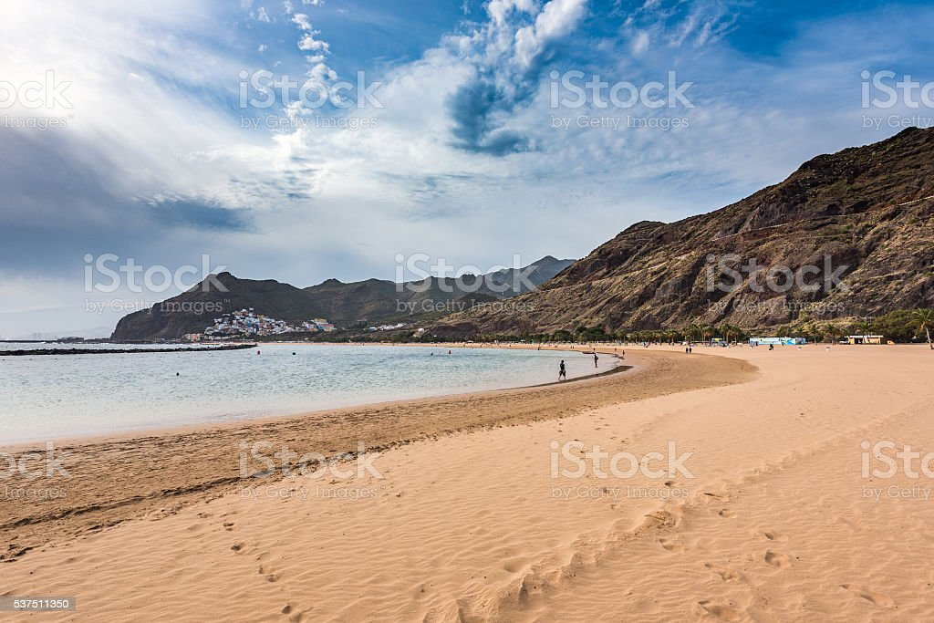 View of Teresitas Beach on Tenerife, Canary Islands, Spain. stock photo