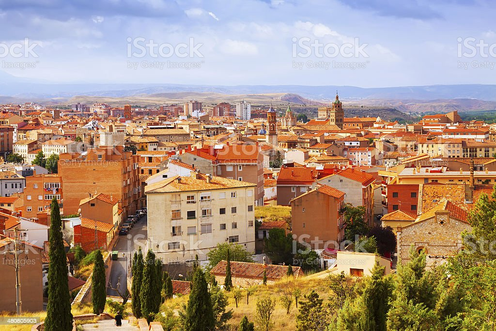 view of Teruel with landmarks stock photo