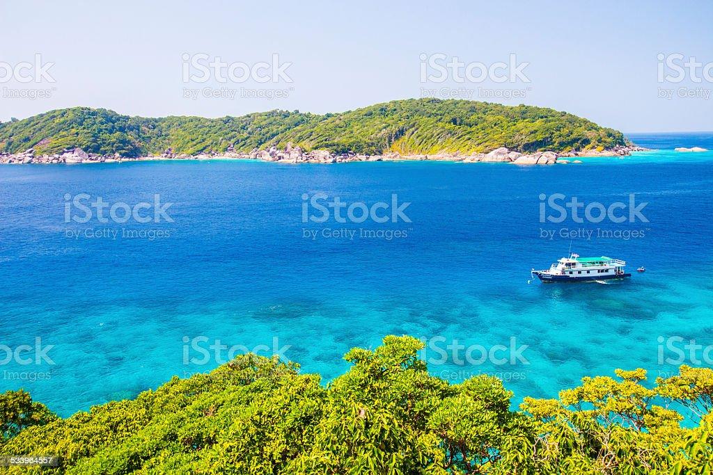 View of Thailand beach stock photo