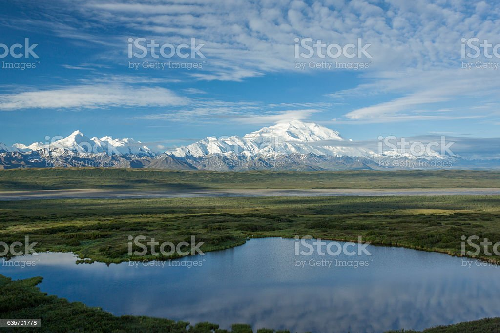 View of the Alaska Range. stock photo