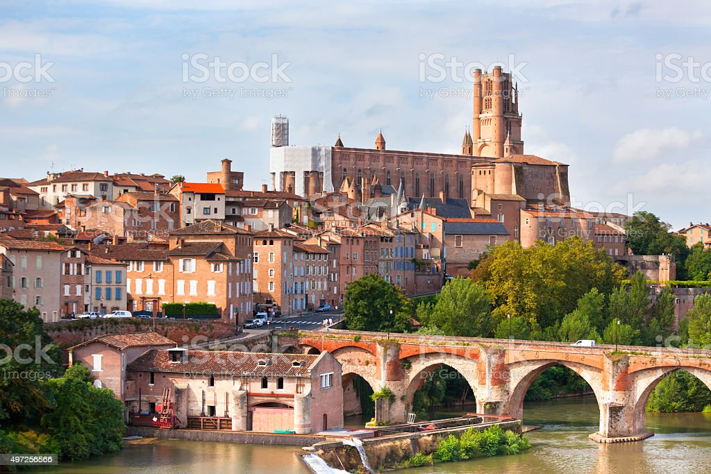 View of the Albi, France stock photo