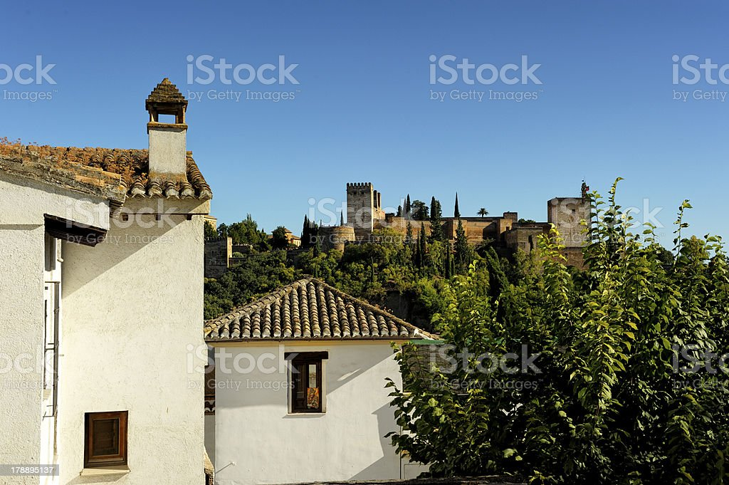 View of the Alhambra stock photo