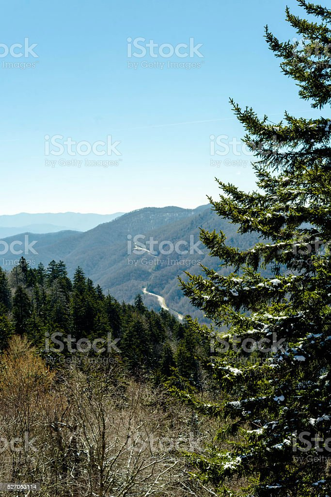 View of the Appalachian Mountains stock photo