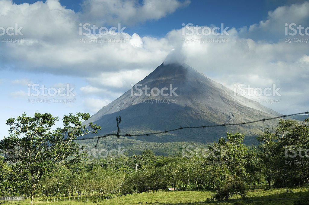 View of the Arenal volcano royalty-free stock photo