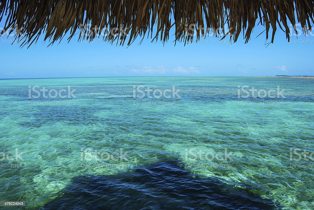 View of the Atoll stock photo