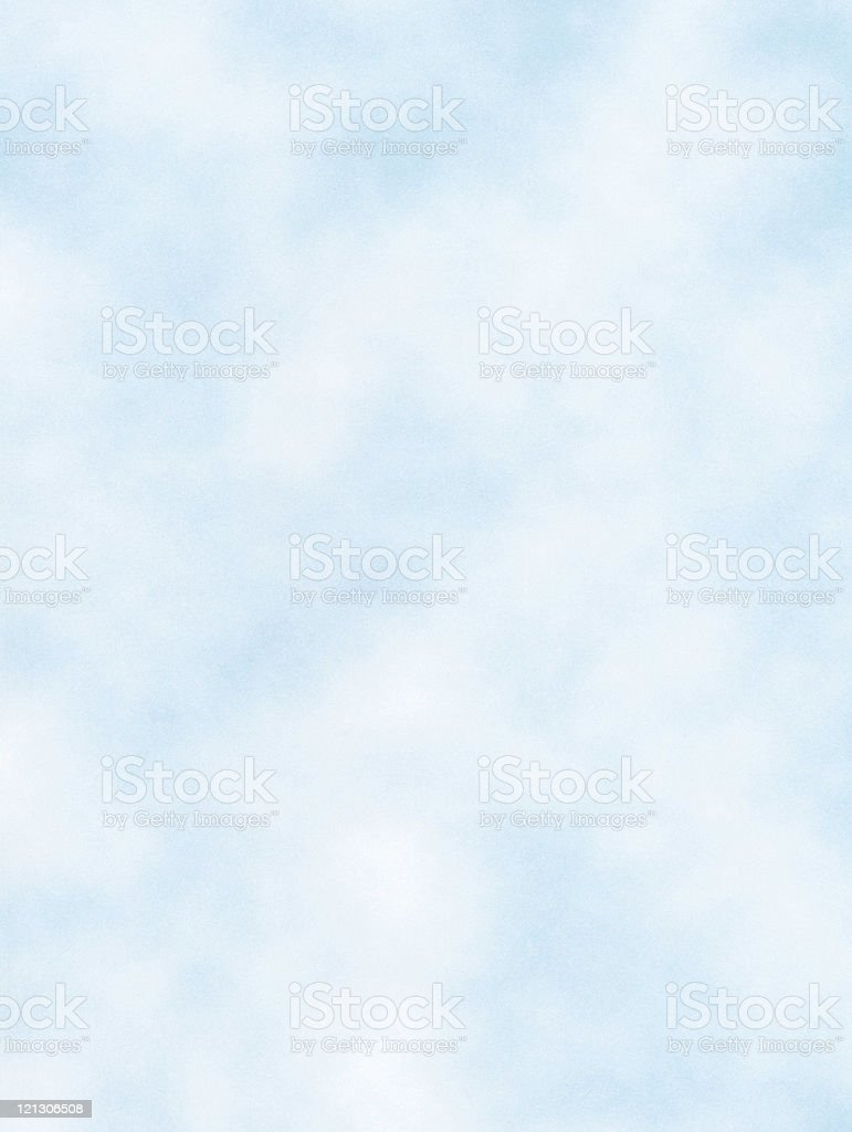 A view of the baby blue sky and clouds drifting stock photo