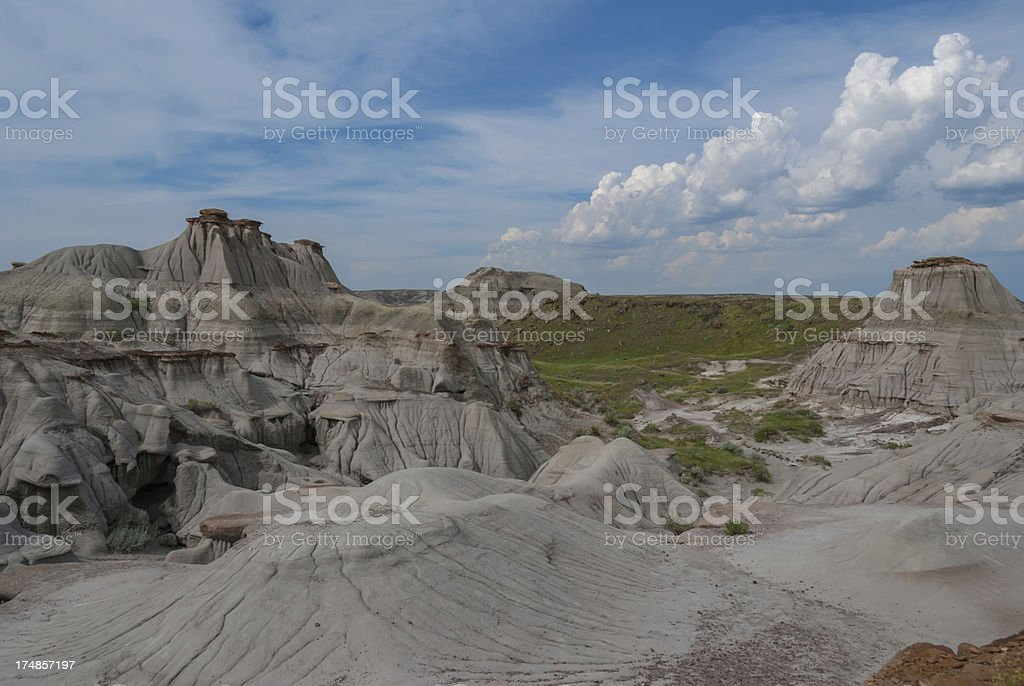 View of the badlands stock photo