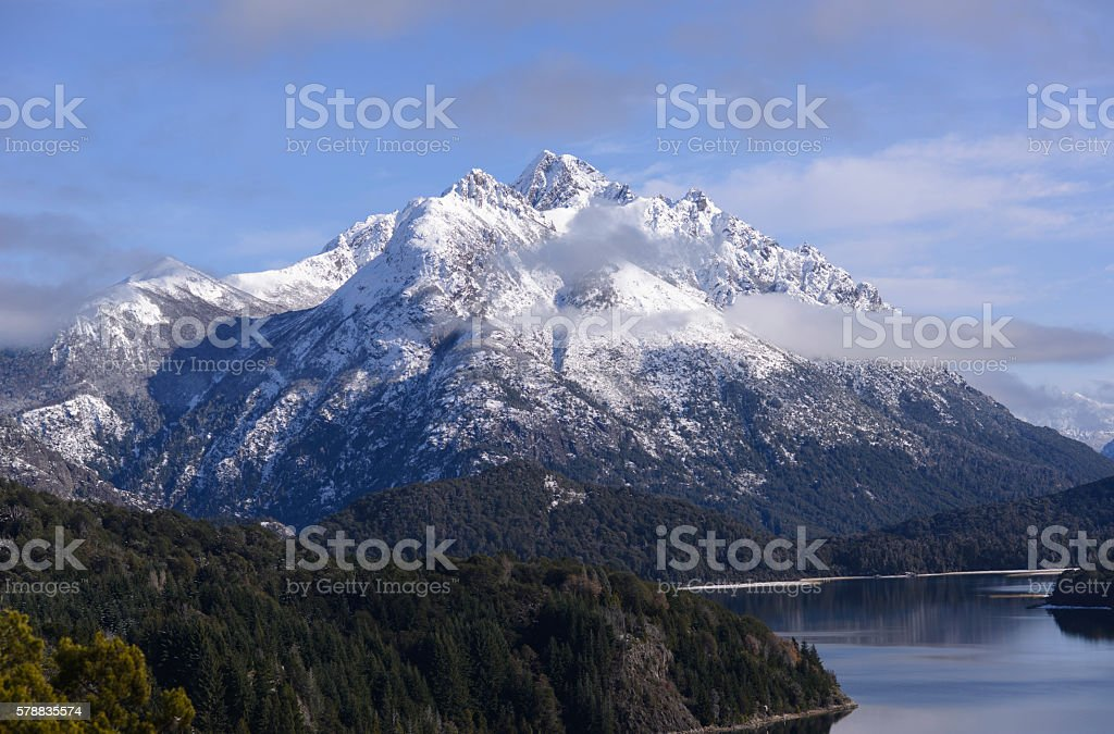 View of the Bariloche Mountains stock photo