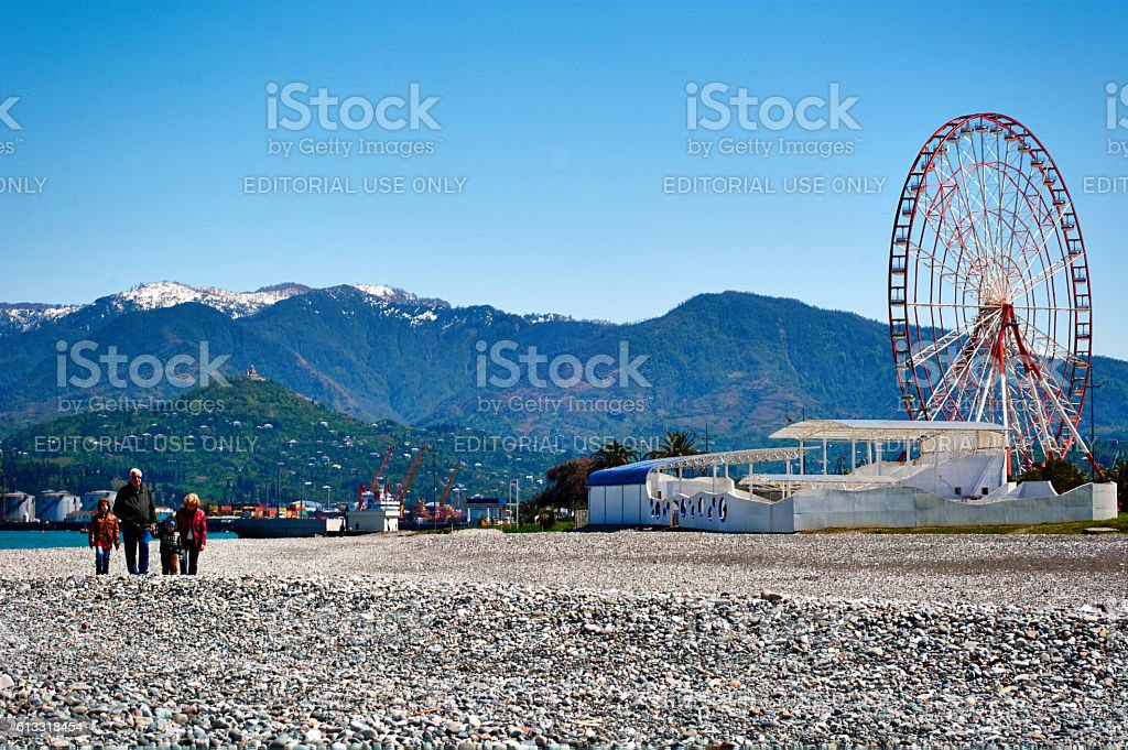 View of the Batumi life. Georgia stock photo