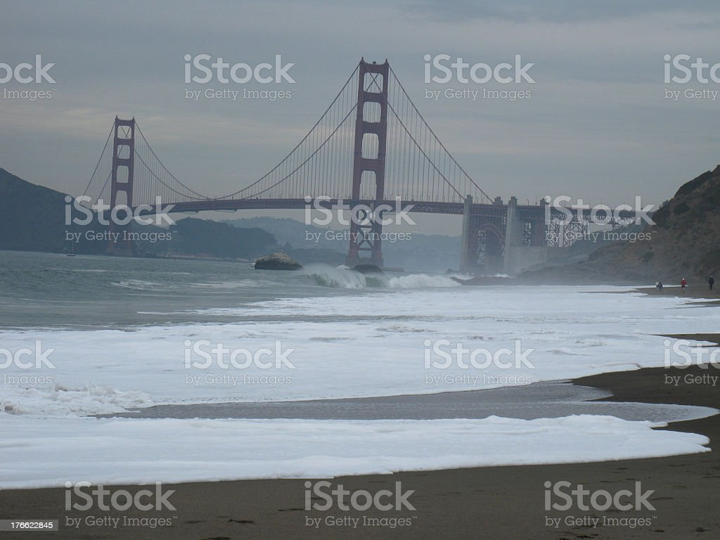 View of the Bay and  Golden Gate Bridge royalty-free stock photo