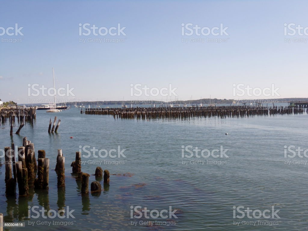 View of the Bay stock photo