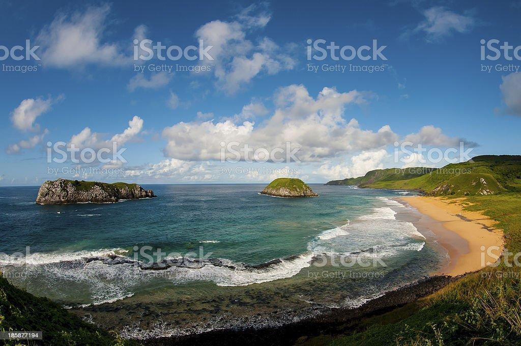 View of the beach at Fernando de Noronha, Brasil stock photo