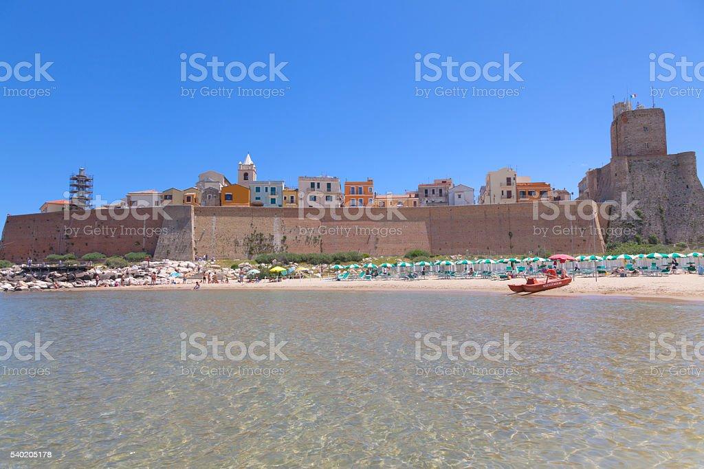 View of the beach in Termoli, Molise, Italy stock photo