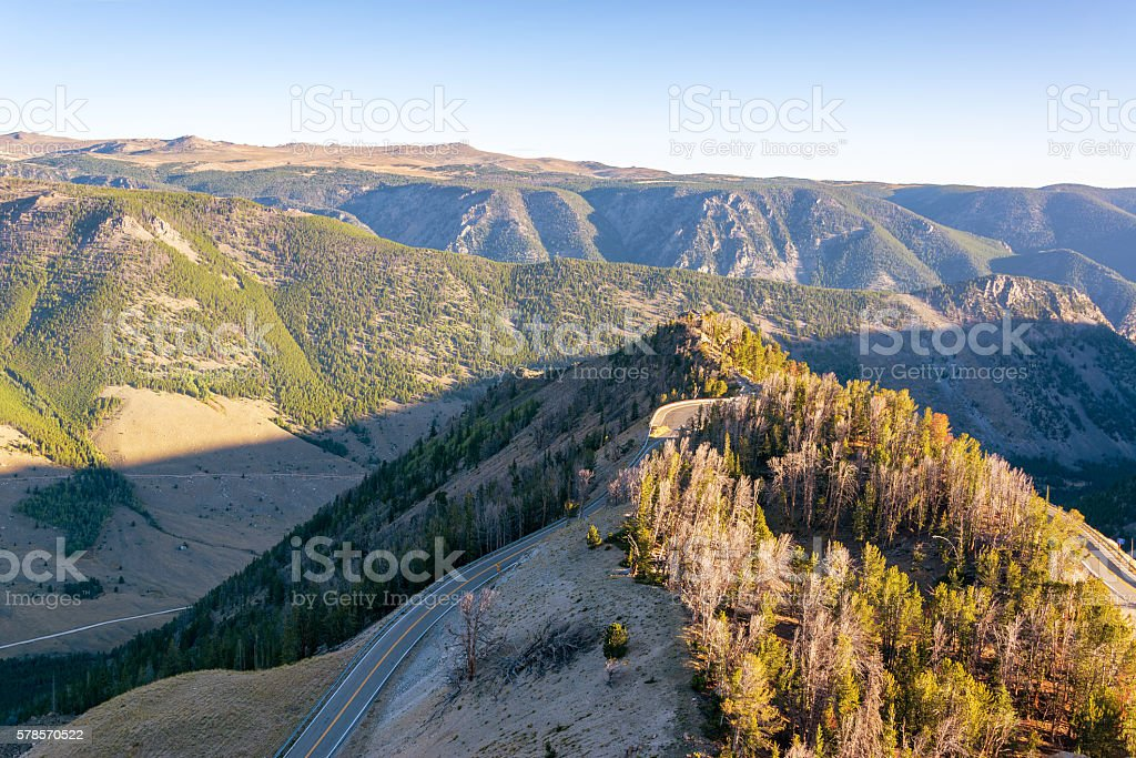 View of the Beartooth Mountains stock photo