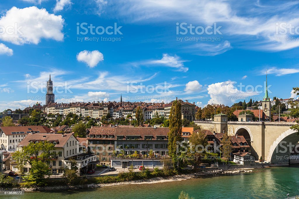View of the Berne Old Town stock photo