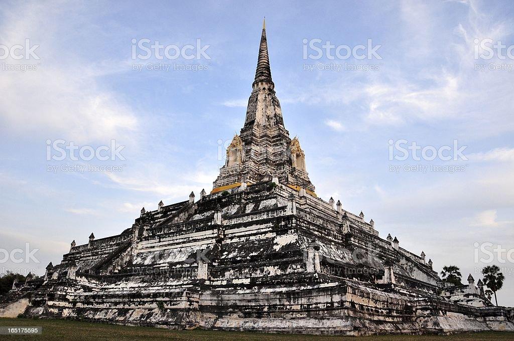 view of the Big Pagoda at Wat Phukhutong royalty-free stock photo