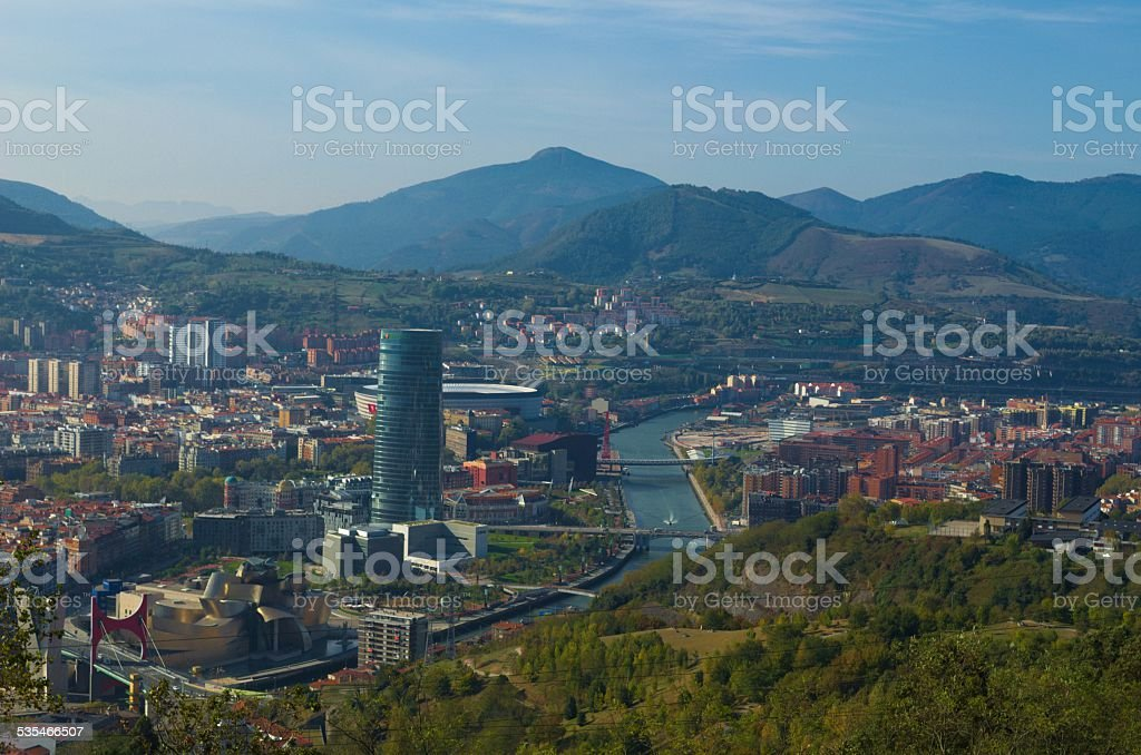 View of the bilbao city stock photo
