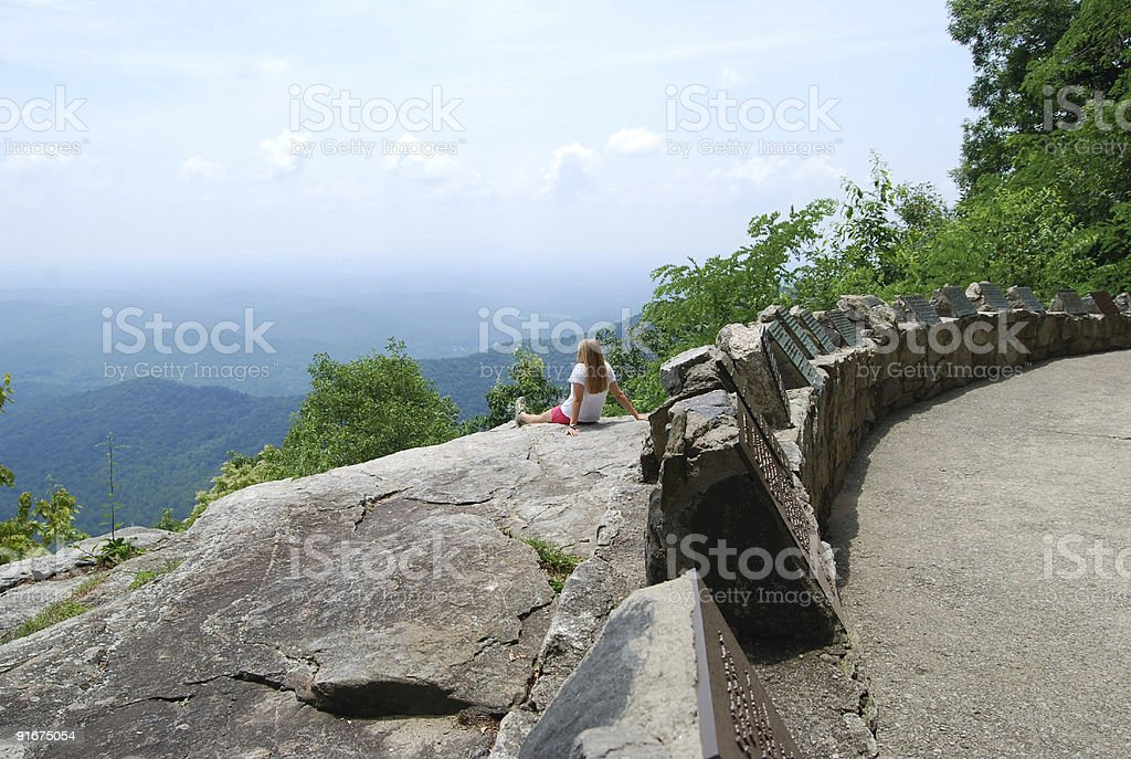 View of the Blue Ridge Mountains royalty-free stock photo