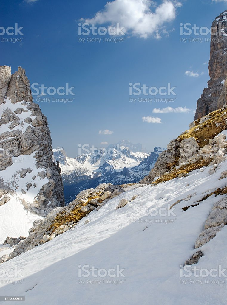 View Of The Boite Valley stock photo