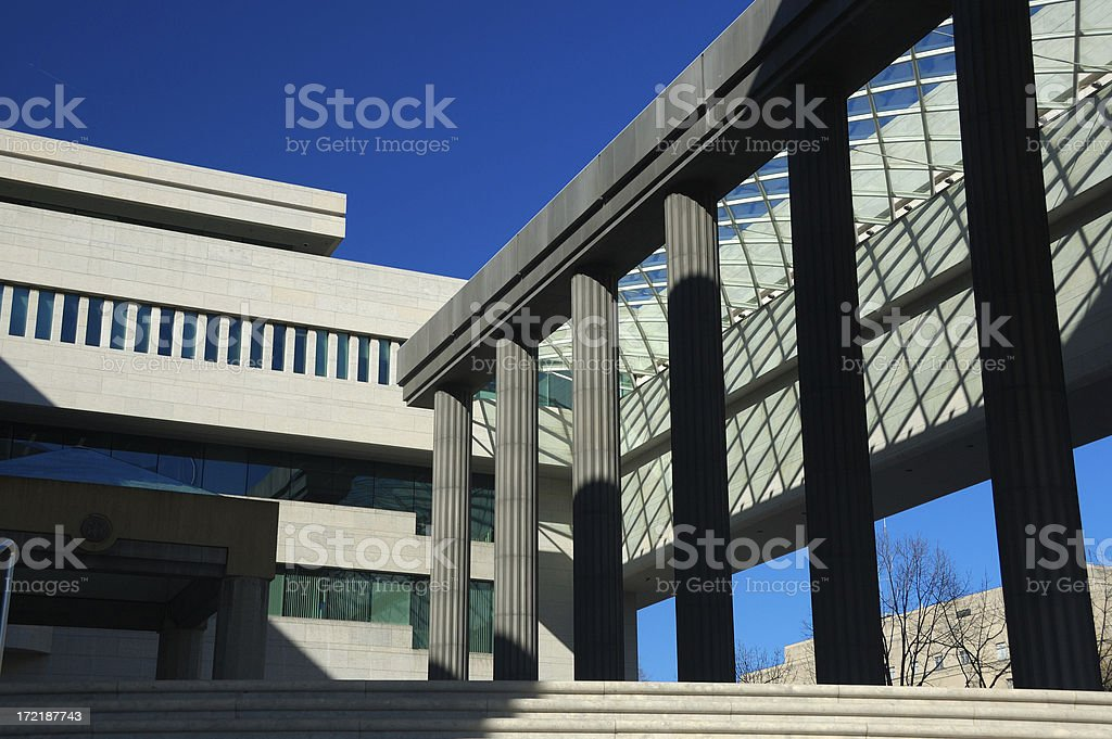 View of the Canadian Embassy in Washington stock photo