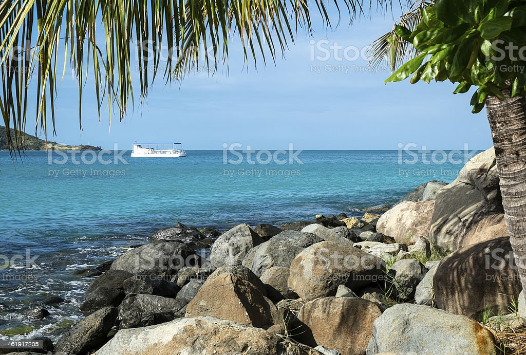 View of the Caribbean Sea stock photo