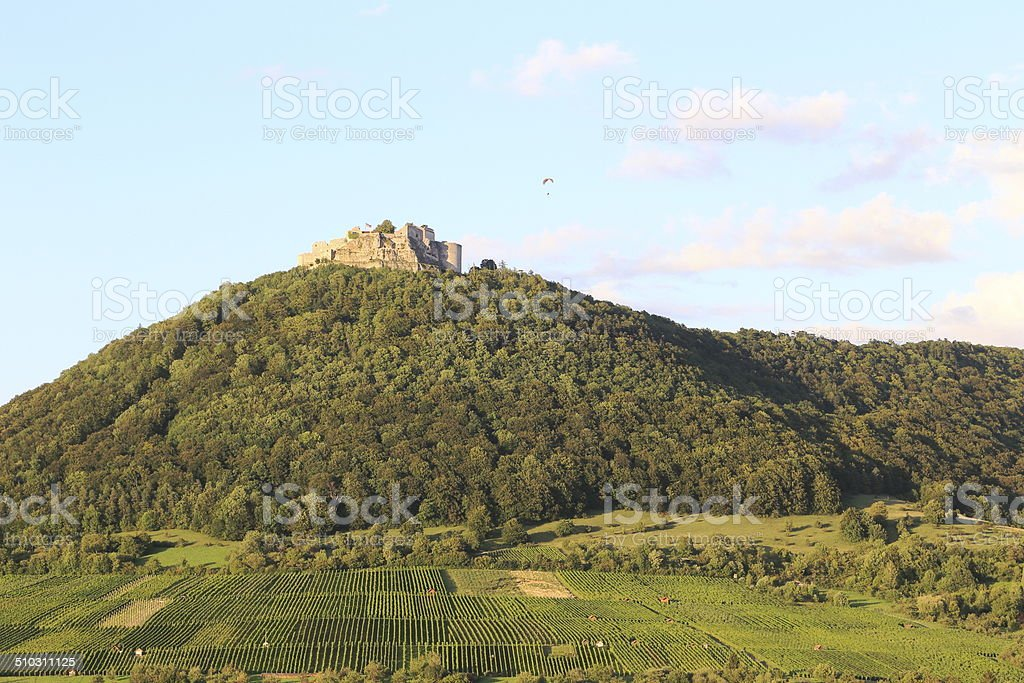 View of the Castle Hoher Neuffen stock photo