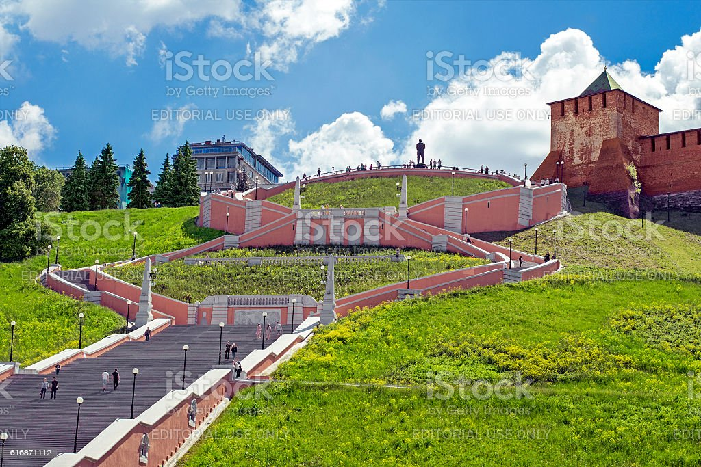View of the Chkalov staircase stock photo