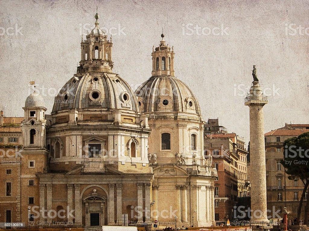 View of the Church of Santa Maria di Loreto. stock photo
