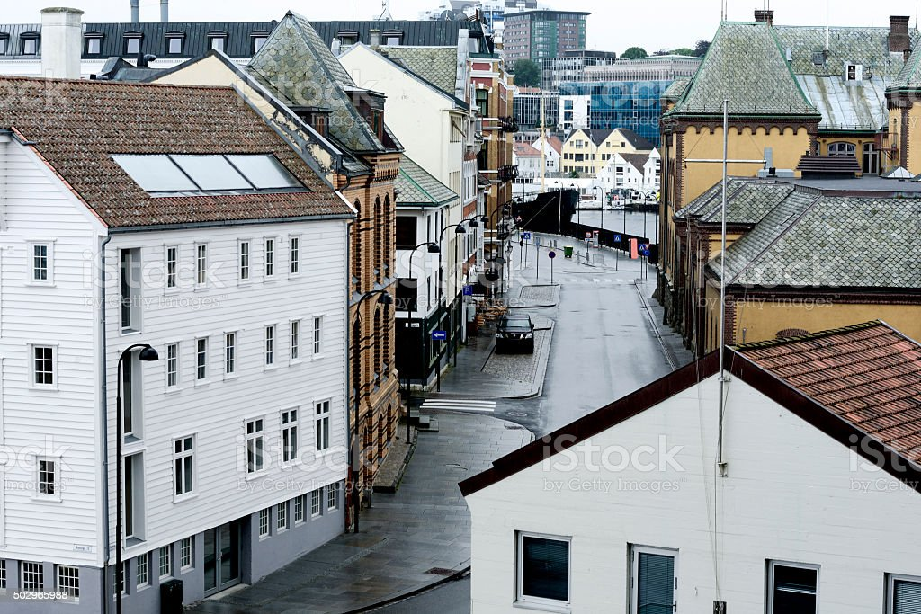 View of the city after the rain, Stavanger, Norway stock photo