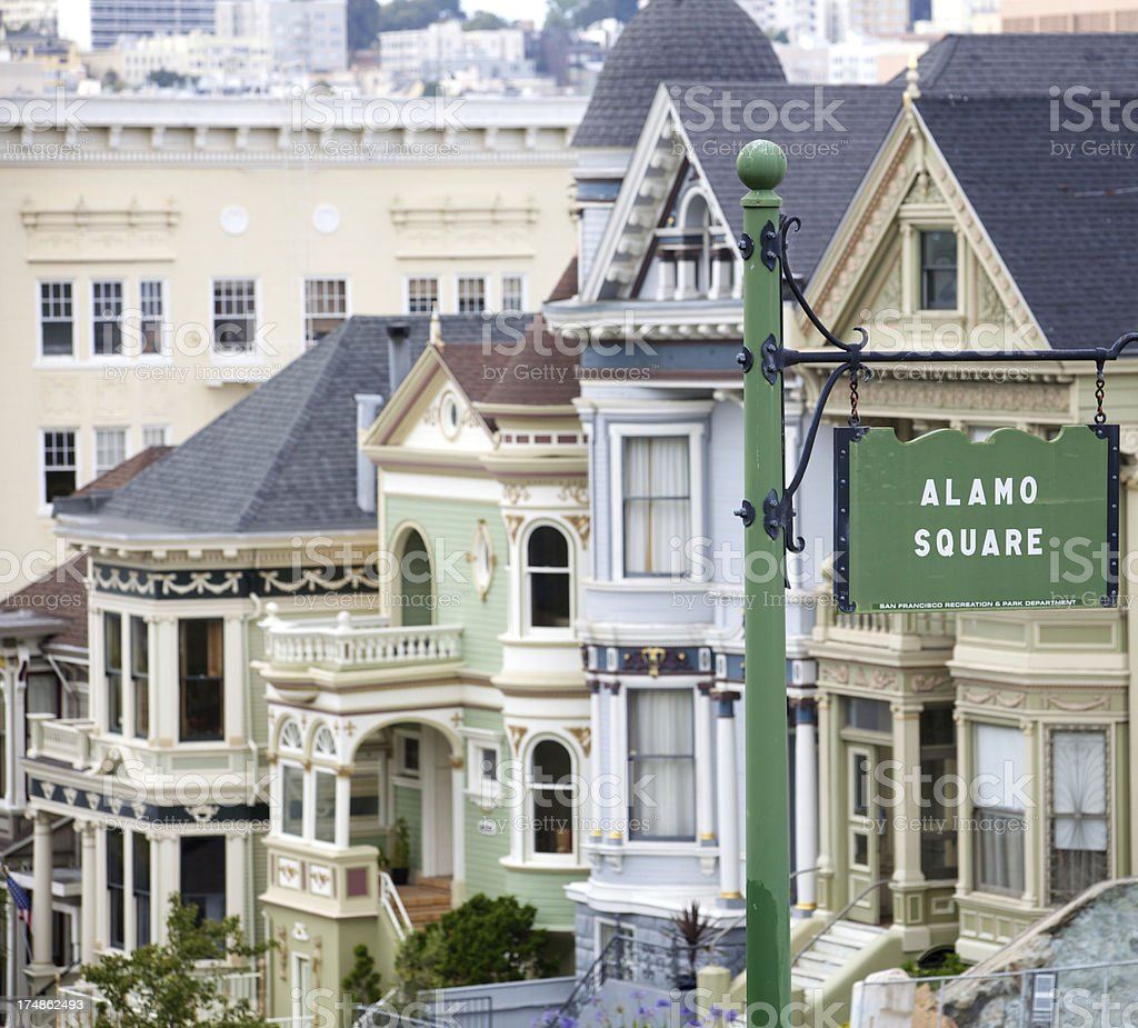 A view of the city from Alamo Square.A view of the city from Alamo Square. royalty-free stock photo