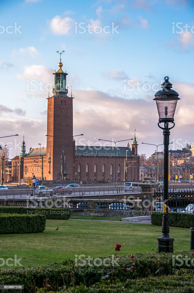 View of the City Hall in Stockholm, Sweden stock photo