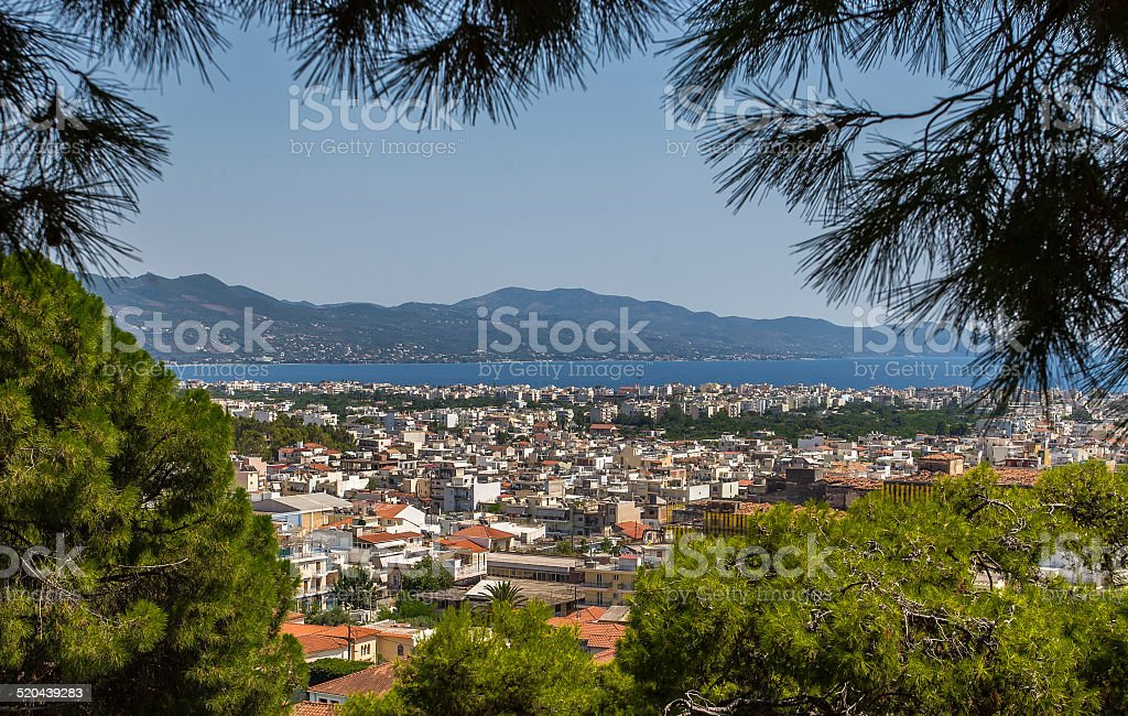View of the City Kalamata, Peloponnese, Greece stock photo